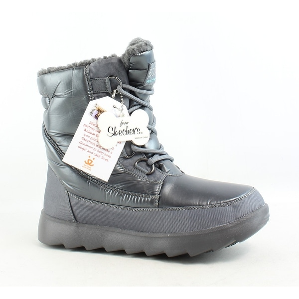 Shop Bobs By Skechers Womens Charcoal Snow Boots Size 6 - Free ... 31f78ff0f54a