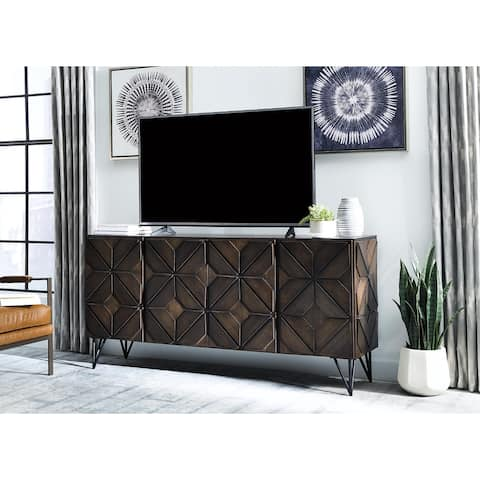 Chasinfield Dark Brown Contemporary Extra Large TV Stand