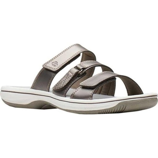 12ac939fba0 Shop Clarks Women s Brinkley Coast Slide Pewter Synthetic - Free Shipping  Today - Overstock - 27346833
