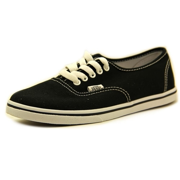 Vans Authentic Lo Pro Women  Round Toe Canvas Black Sneakers