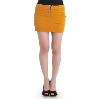Costume National Costume National Yellow corduroy mini skirt - it40-s