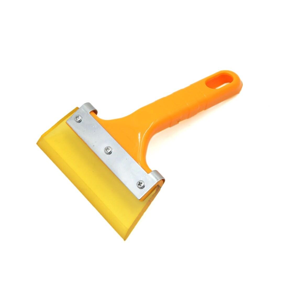 Yellow Comfort Grip Handle. Set of 2 Windshield Ice Scrapers