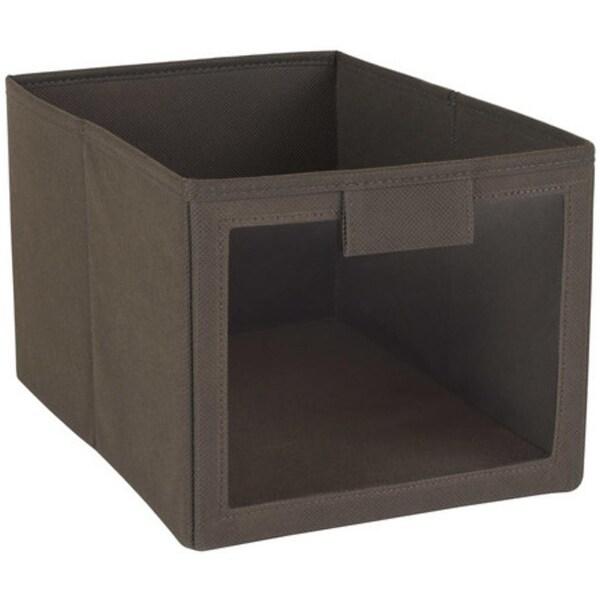 Closetmaid 25068 Fabric Bin with Window, Brown