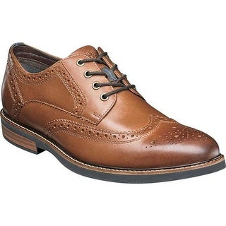 Nunn Bush Men's Oakdale Wing Tip Oxford Tan Chamois Leather