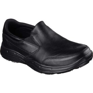 Skechers Men's Relaxed Fit Glides Calculous Slip On Black/Black
