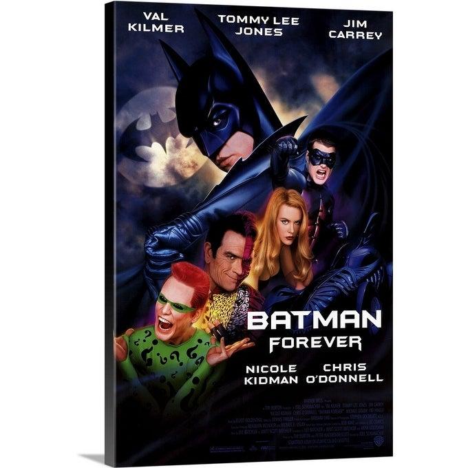 Shop Black Friday Deals On Batman Forever 1995 Canvas Wall Art Overstock 24135655