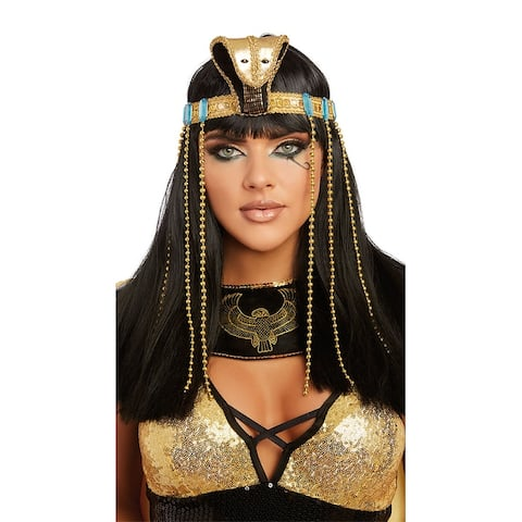 Cleopatra Headpiece - Gold - One Size Fits Most