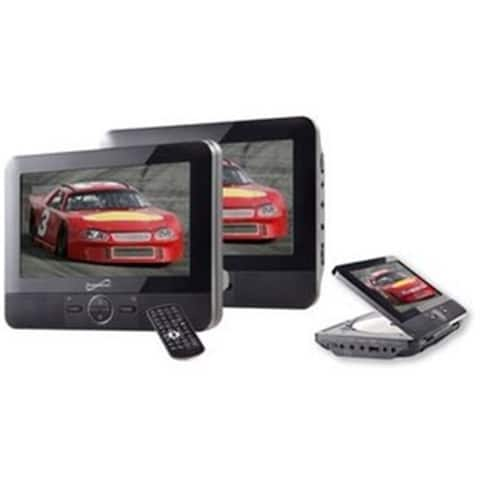 SUPERSONIC SC-198 Supersonic 7 inch Dual Screen DVD Player with USB-SD Inputs