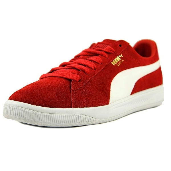 Shop Puma Suede Ignite Men Round Toe Suede Red Sneakers - Free ... 277589f65