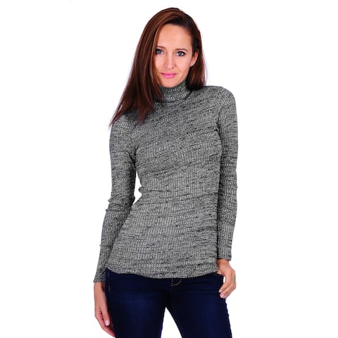Simply Ravishing Women's Long Sleeve Stretchable Turtle Neck Sweater (Size: S-3X)
