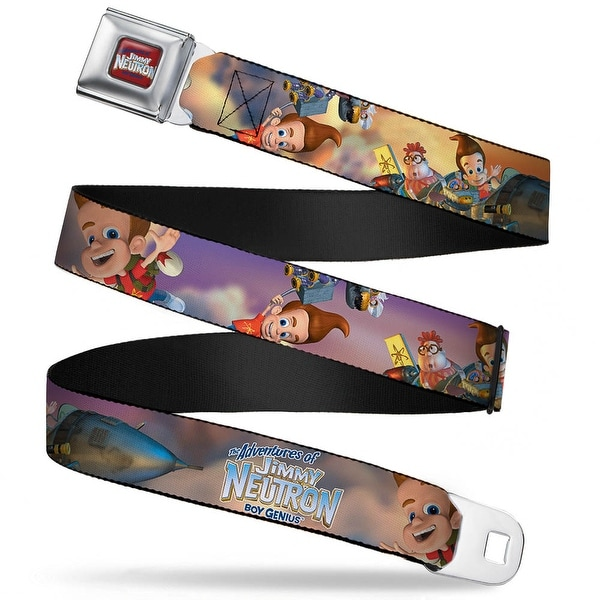 The Adventures Of Jimmy Neutron Logo Full Color Red Blues The Adventures Of Seatbelt Belt
