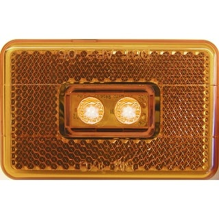 Piranha V170A 2-LED Clearance/Marker Light w/Reflex, 9-16 V, Amber