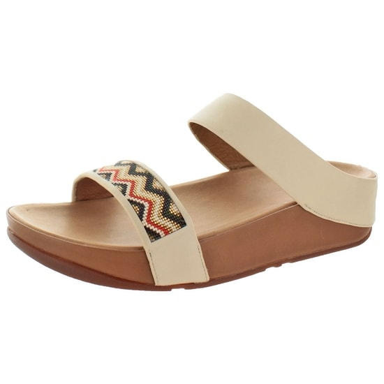 FitFlop Women's Manyano Aztec Leather Slide Sandals