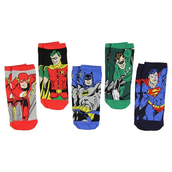 DC Comics Justice League Superhero Characters Adult 5 Pack Low Cut Ankle Socks