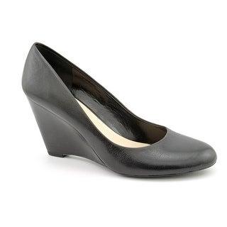 Franco Sarto Helio Open Toe Leather Wedge Heel