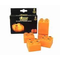 Light Stax LED Light-Up Building Blocks 6-Piece Expansion Pack: Orange - Multi