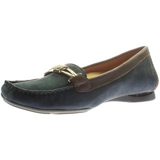 Naturalizer Womens Saturday Leather Contrast Trim Loafers