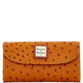 Dooney & Bourke Ostrich Embossed Leather Continental Clutch Wallet (Introduced by Dooney & Bourke at $128 in Jul 2015)