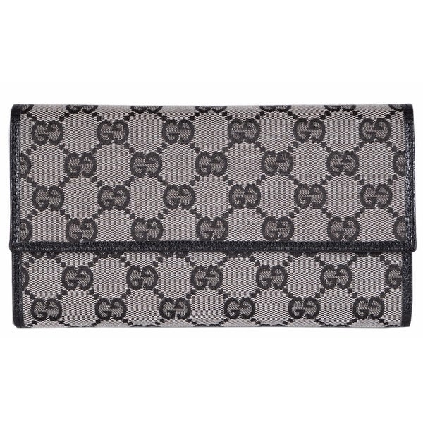 0947d5496e00 Shop Gucci 257303 Grey Black Canvas Leather GG Guccissima Wallet W/Coin  Pocket - Free Shipping Today - Overstock - 14290759