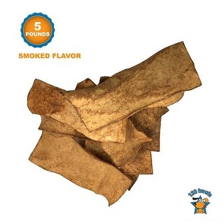 Rawhide Chips Dog Chews 5 LBS - Smoked Flavor 100% All-Natural Grass - 5 Pounds