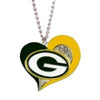 Green Bay Packers NFL Swirl Heart Necklace