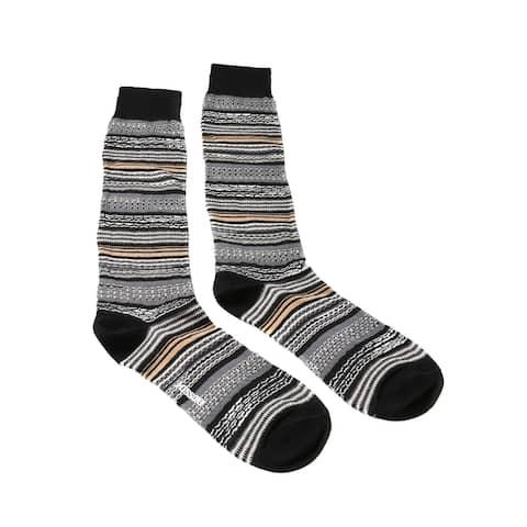 Missoni GM00CMU5236 0004 Gray/Black Mixed Stripe Knee Length Socks