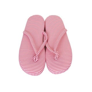 Charter Club Pink Striped Slippers (.-.) M