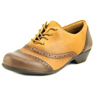 Comfortiva Reddell Women W Round Toe Leather Brown Oxford