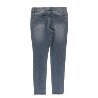 Tinseltown Womens Juniors Destroyed Classic Rise Skinny Jeans