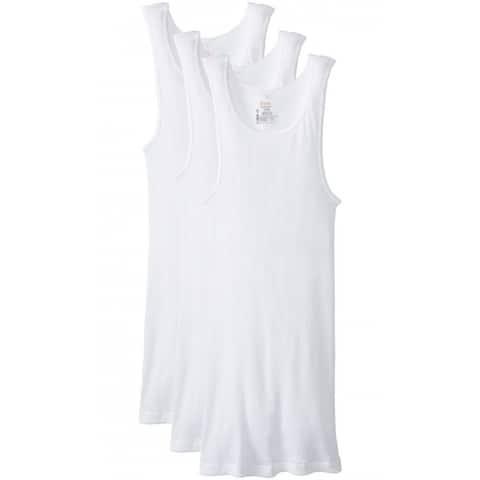 Hanes 372-M Men's Tagless ComfortSoft Tank Top A-Shirt, White, Medium, 3-Pack