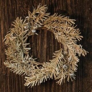 "Silver Bell Glitter Pine Ring 3.5"""