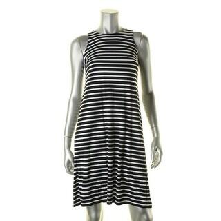 Lauren Ralph Lauren Womens Casual Dress Striped Sleeveless