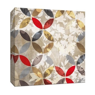 "PTM Images 9-146967  PTM Canvas Collection 12"" x 12"" - ""Golden Prism with Red I"" Giclee Flowers Art Print on Canvas"