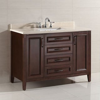 """Miseno MVDA48 48"""" Free Standing Vanity Set with Cabinet, Marble Vanity Top, Unde (2 options available)"""