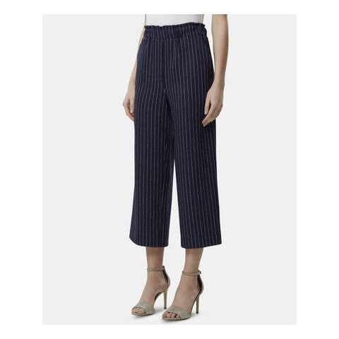 TAHARI Womens Navy Pinstripe Pants Size 8