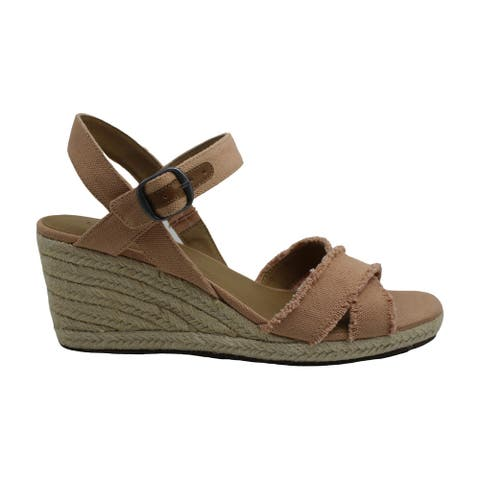 Lucky Brand Womens Margaline Fabric Open Toe Special Occasion Espadrille Sand...