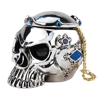 Design Toscano Halloween Chrome Dome Gothic Skull Box