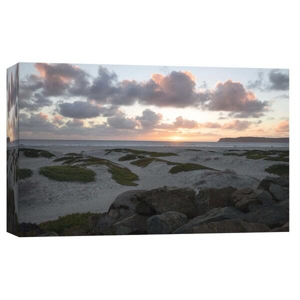 "PTM Images 9-102254 PTM Canvas Collection 8"" x 10"" - ""Coronado Beach Dusk"" Giclee Coastlines Art Print on Canvas"
