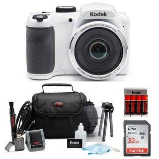 KODAK PIXPRO AZ252 Astro Zoom Digital Camera (White) Bundle