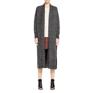 French Connection Womens Duster Sweater Marled Long Sleeves