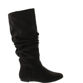West Blvd Saigon Slouch Slouch Boots - Black Suede