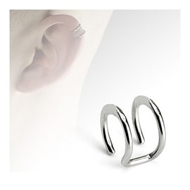 Surgical Steel Fake Cartilage 'Clip-On' Double Closure Ring (Sold Ind.)