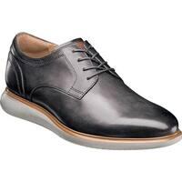 Florsheim Men's Fuel Plain Toe Oxford Gray Leather/Gray Sole