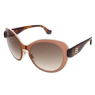 Balenciaga BA0002S 72F Rose/Dark Havana Round sunglasses - 56-19-140