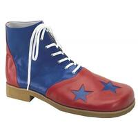 Morris Costumes  Clown Shoes Star Toe, Red & Blue - One Size
