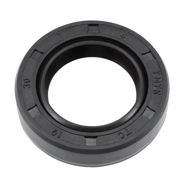 Oil Seal, TC 19mm x 30mm x 7mm, Nitrile Rubber Cover Double Lip - 19mmx30mmx7mm