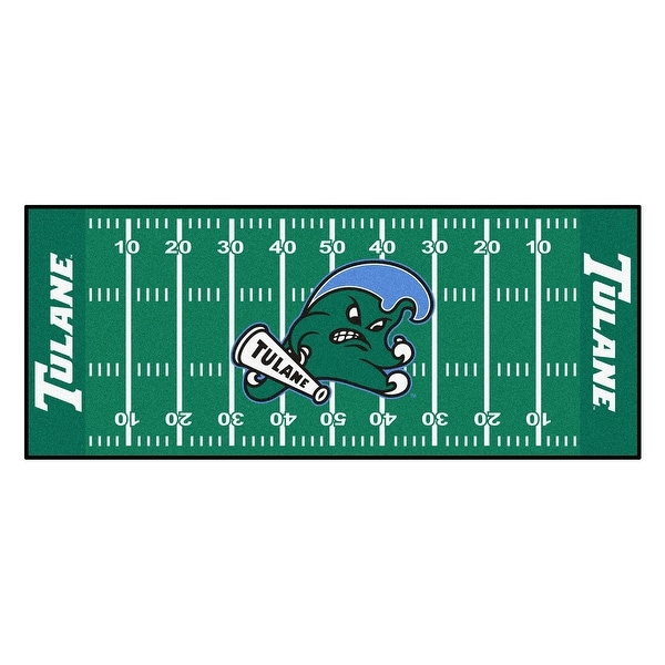 brand new 5628f af0a9 Shop NCAA Tulane University Green Wave Football Field Runner Mat Area Rug -  N A - Free Shipping Today - Overstock - 22629142