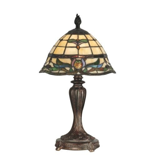 Dale Tiffany TT10087 Victorian 1 Light Tiffany Table Lamp with Art Glass Shade - n/a
