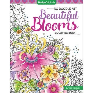 Design Originals-Kc Doodle Art Beautiful Blooms Coloring