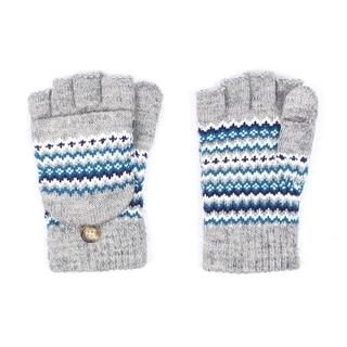 Unisex Chevron Fingerless Mitten Gloves